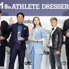 【写真】『第8回 Safari Athlete Dresser Award』の授賞式に登場した巨人・小林誠司