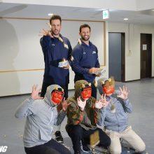 日本ハムのマルティネス、バーヘイゲン両投手が豆まき「いいイベント」