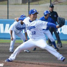 中日・田島、右肘痛でノースロー調整 前日の練習試合で1回3四死球と乱調