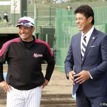 侍J稲葉監督がロッテのキャンプを視察「これから楽しみな選手が多い」