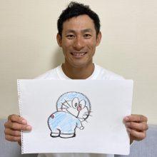 """""""絵心のある野球選手"""" ロッテ・荻野が描いた「ドラえもん」にファン絶賛!"""