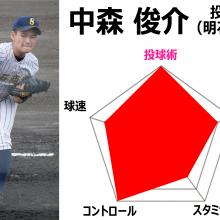 今年の高校生投手の代表格 明石商・中森俊介【ドラフトFile.2020】