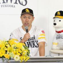 クライマックスMVPの鷹・中村晃「あと4つ。チーム一丸となって日本一を掴み取りたい」