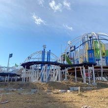 メットライフドームの隣にレオ党ジュニアの遊び場が出現