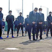 阪神・淡路大震災から26年 オリックス・湊通夫球団社長ら約60人が黙とう