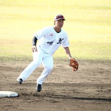 3試合連続出塁中 途中出場でアピールするロッテ・福田光輝