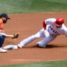 大谷翔平、4打数2安打1盗塁 今季初マルチもチームの連勝はストップ