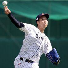 侍Jデビューの青柳晃洋、初のリリーフ登板で2回2失点「修正していきたい」