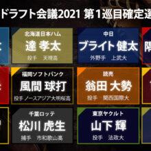 4球団競合の大学生左腕・隅田は西武が交渉権を獲得【ドラフト指名全選手一覧】