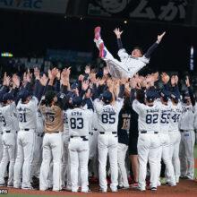 日本ハムの木村&横浜高OBも参加!西武・松坂の引退試合で餞の胴上げ